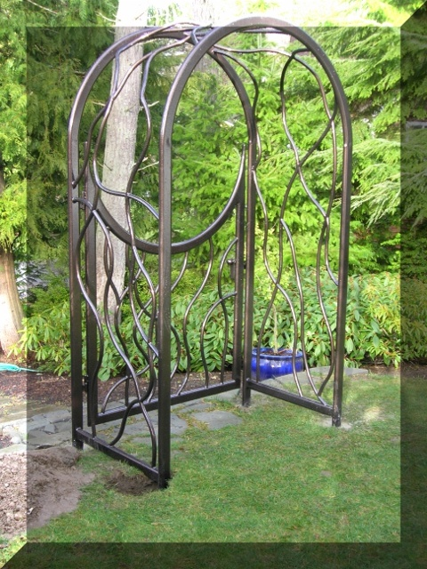 Garden Gates Custom Hand Forged Wine Racks Art Sculptures Metal Herons Driveway Aluminum Railings